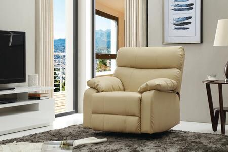 """Glory Furniture G53 Collection 37"""" Rocker Recliner with Pub Back, Removable Plush Padded Arms and Faux Leather Upholstery in"""