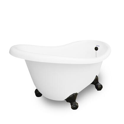 American Bath Factory T020A- Marilyn Bathtub no Faucet Holes, Waste & Overflow Included, Includes Drain: