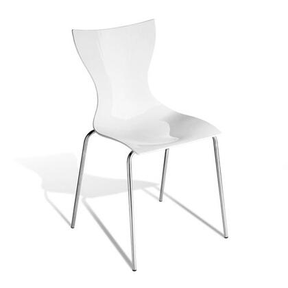 Modloft CDX202IAK6 Maddox Series Modern Not Upholstered Metal Frame Dining Room Chair