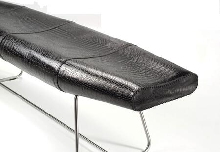 Modloft BCO011ASC8 Carey Series Accent Armless Leather Bench