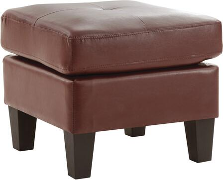 Glory Furniture G467O Newbury Series Contemporary Faux Leather Ottoman