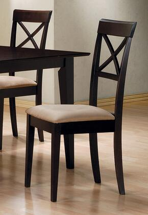 Coaster 10X774 Mix & Match Cross Back Dining Chair with Fabric Seat, Square Tapered Legs, Clean Lines, Smooth Edges, and Wood Frame