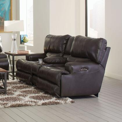 Catnapper 64589128328308328 Wembley Series Leather Reclining with Metal Frame Loveseat