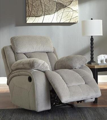 Signature Design by Ashley 8650498 Stricklin Series Contemporary Fabric Metal Frame Rocking Recliners