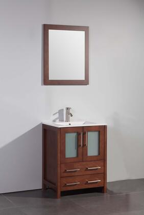 Legion Furniture WA7924 24in. Solid Wood Sink Vanity With Mirror - No Faucet