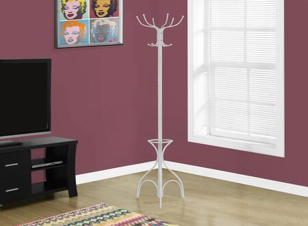 "Monarch I 203X 70"" Coat Rack with Multiple Hanging Pegs, Umbrella Holders and Pedestal Base"