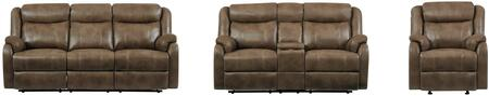 Global Furniture U7303CRSWDDTWALNUTCRLSCGR U7303C Living Roo