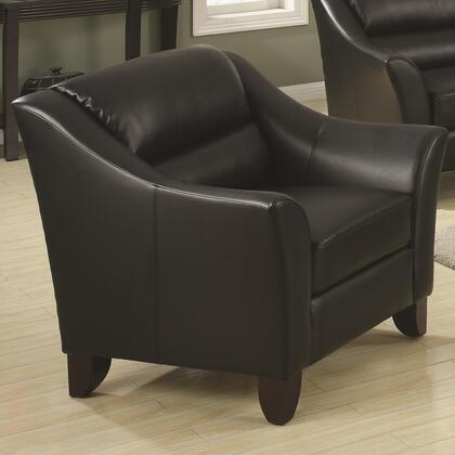 Coaster 504533 Brooklyn Series Bonded Leather with Wood Frame in Black