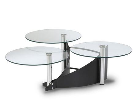 Chintaly 1144CT Chrome Modern Table