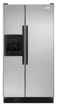 """Whirlpool ED2KVEXVL Freestanding 21.7 cu. ft. 7.3 cu. ft. No 32.75"""" Side by Side Refrigerator 
