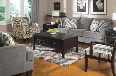 Milo Italia MI4987KIT4PC3STEE Adrienne Living Room Sets