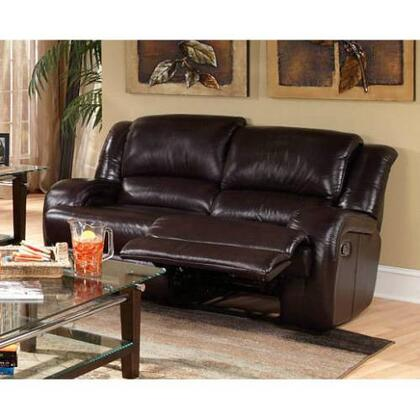 Novo Home 98802RR Cavatina Series Leather Match Reclining with Wood Frame Loveseat