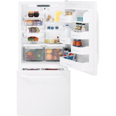 GE GDS22KCWWW  Refrigerator with 22.30 cu ft Capacity in White