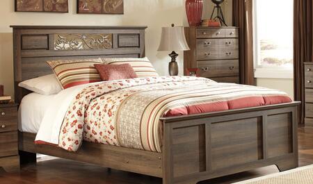Milo Italia BR311443992 Krueger Series  Queen Size Panel Bed