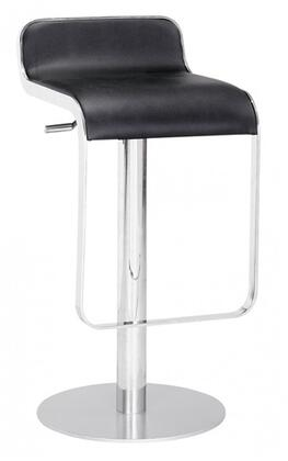 Fine Mod Imports FMI1135BLACK Lem Series Commercial/Residential Leather Upholstered Bar Stool