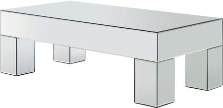 Meridian Lainy 249TABLE Mirrored Table with Rectangular Shape and Mirrored Surface