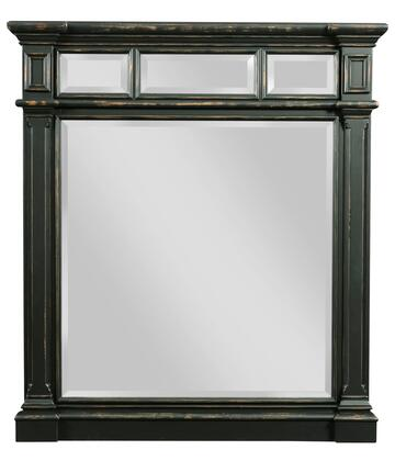 "Broyhill New Vintage 480X-237 40"" Wide Vertical Mirror with Crowned Moldings, 1"" Beveled Glass and Distressing Details in"