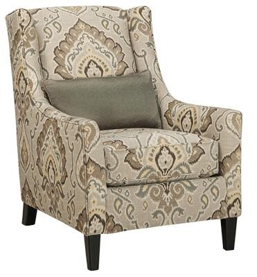 Milo Italia MI852927SHAL Camden Series Armchair Fabric Wood Frame Accent Chair