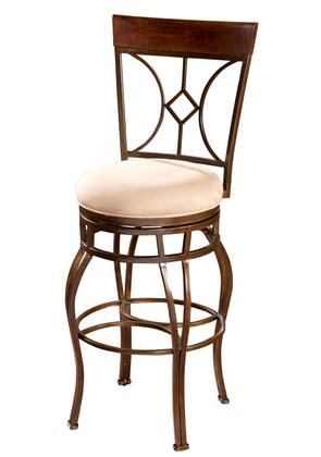"American Heritage Starletta Series 134901 34"" Transitional Tall Bar Stool with Full Bearing Swivel, Uniweld Construction, and Adjustable Leg Levelers"