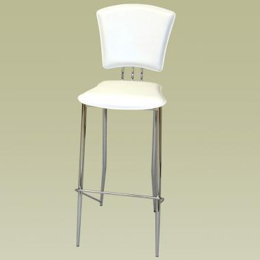 Chintaly TRACYCSWHT Tracy Series Residential Leatherette Upholstered Bar Stool