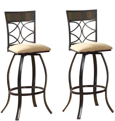 Acme Furniture 72662 Pansy Series Residential Fabric Upholstered Bar Stool