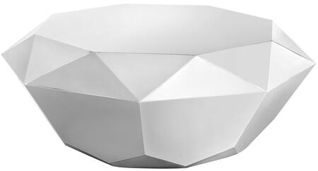 """Meridian Gemma Collection 222X-C 39"""" Round Coffee Table with Stainless Steel, Diamond Shape and Contemporary Style in"""