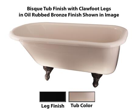 Bisque Tub Finish with Clawfoot Legs in Oil Rubbed Bronze Finish
