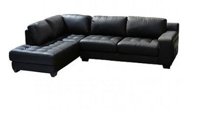 Diamond Sofa LAREDOLF2PCSECTB Contemporary Bonded Leather Living Room Set