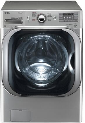 "LG WM8100H 29"" Energy Star Certified Front Load Washer with 5.2 cu. ft. Capacity, 14 Wash Cycles, 1300 RPM, Steam Cycle, TurboWash, ColdWash, TrueBalance, and SmartDiagnosis"