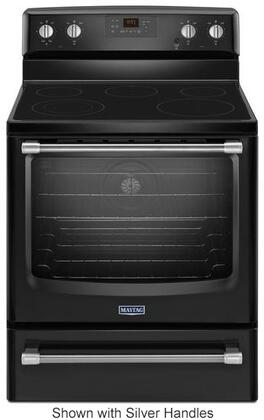 Maytag MER8700D 6.2 cu. ft. Freestanding Convection Range with 3200 Watt Power Element, EvenAir Convection, Variable Broil, Glass Cooktop and Die-Cast Metal knobs:
