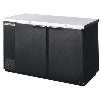 "Beverage-Air BB581 59"" Back Bar Refrigerator with 2 Solid Doors, 2"" Thick Stainless Steel Work Top, CFC-Free R-134a Refrigerant, Two-Section Design, Galvanized Top and Interior, Stainless Steel Floors, Interior Fluorescent Lightin"