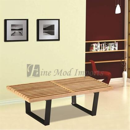 """Fine Mod Imports FMI1152 X"""" Wooden Bench:Natural"""
