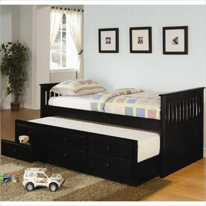 Coaster La Salle Twin Size Captain's Daybed with Trundle, Storage Drawers, Simple Slatted Ends and Solid Wood Construction in