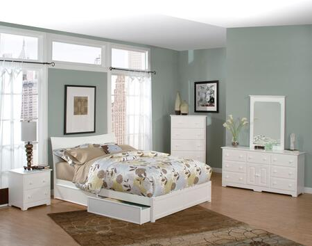 Atlantic Furniture SOHFPWHTW  Twin Size Bed