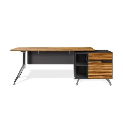 Unique Furniture 484X Executive Desk with Right Cabinet