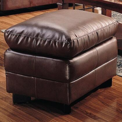 Coaster 501914 Harper Series Traditional Bonded Leather Ottoman