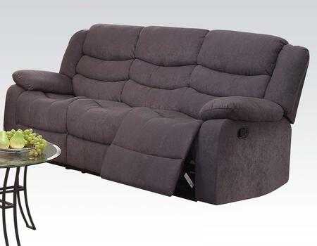 """Acme Furniture Jacinta Collection 81"""" Motion Sofa with Wood and Metal Frame, Tight Cushions and Velvet Upholstery in"""