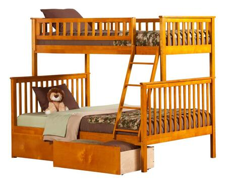 Atlantic Furniture AB56247  Twin over Full Size Bunk Bed