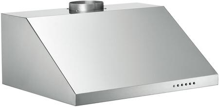"Bertazzoni Professional KUXXPRO1X X"" Wall-Mount Hood with 600 CFM, Electronic Control, Halogen Lights and Aluminum Mesh Filters in Stainless Steel"