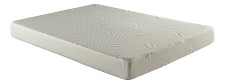 "Atlantic Furniture M4610 Easy Rest Memory Foam Mattress 6"" Size with 1"" High Quality Ultra Comfort Memory Foam, Gradual Recovery Top Layer and 5"" Thick 1.5 Lb. Polyurethane Foam Base Layer"