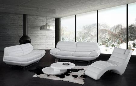 VIG Furniture VGBNSBO3979W Modern Leather Living Room Set