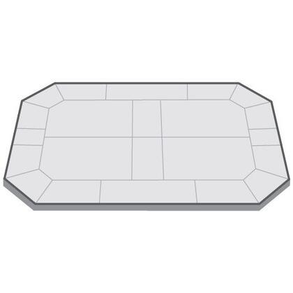 "American Panel AP324 36"" x 24"" Octagonal Gas Hearth Board"