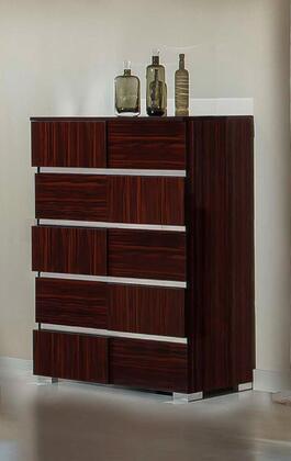 VIG Furniture VGACPICASSOCHEBONY Modrest Picasso Series Wood Chest