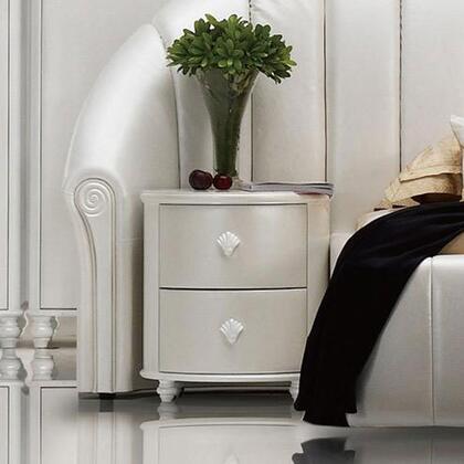 VIG Furniture SEASHELLNS Sea Shell Series  Wood Night Stand