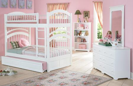 Atlantic Furniture YBBWINDSORTWINTWINALWH Windsor Series  Twin/Twin Size Bed