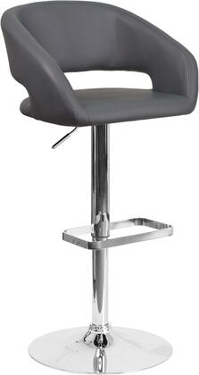 Flash Furniture CH122070GYGG Residential Vinyl Upholstered Bar Stool