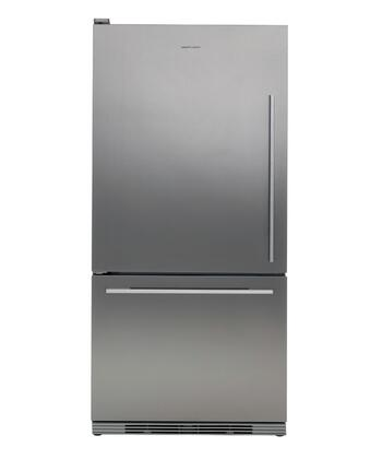Fisher Paykel RF175WDLX1 Active Smart Series Counter Depth Bottom Freezer Refrigerator with 17.5 cu. ft. Total Capacity 5.1 cu. ft. Freezer Capacity 2 Glass Shelves