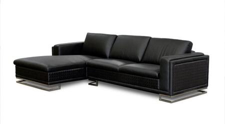 Diamond Sofa BLVDLFSECT2PCB Boulevard Series  Sofa