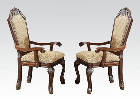 Acme Furniture 64078 Chateau De Ville Series Traditional Fabric Wood Frame Dining Room Chair