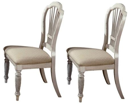 Hillsdale Furniture 4508802 Wilshire Series Transitional Fabric Wood Frame Dining Room Chair